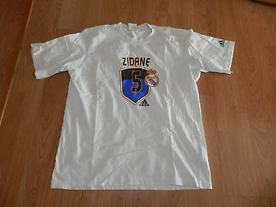 Maillot T shirt Real Madrid Adidas Blanc Zidane Taille L