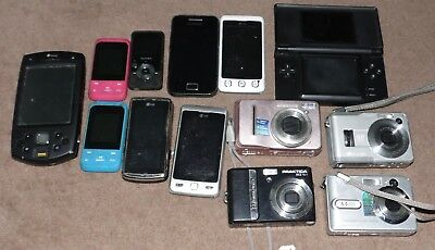 Mixed mobile phone camera and DS joblot 2 untested electrical spares repair