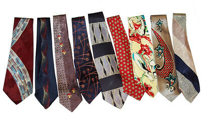 lot of 9 swing era mens ties 1940 1950 Made in USA vintage