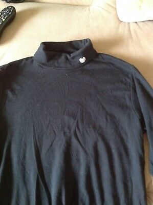palm grove roll neck golf top black with white motif size Medium