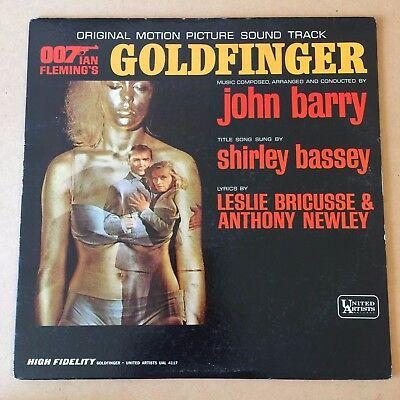 Honor Blackman Autographed Goldfinger 007 Soundtrack Record Pussy Galore 1964