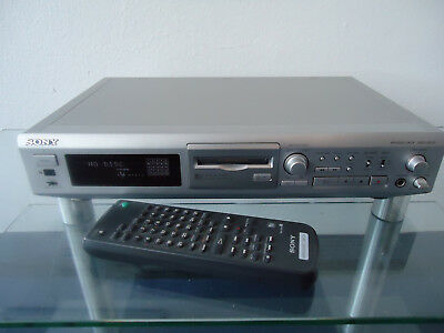 Sony Mds Je510 Minidisc Player Minidisk Recorder + Fb In Silber Top Zustand