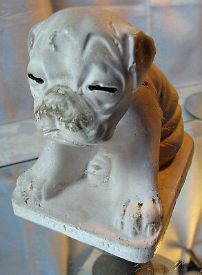 Vintage Carnival Chalkware Statue Pug Puppy Nobody Loves Me