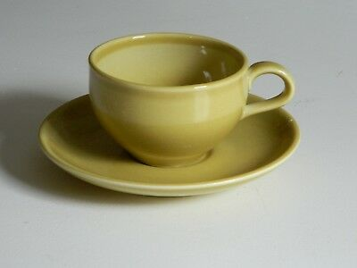 Mid Century Russel Wright Casual Iroquois Cup & Saucer Late Mustard Gold