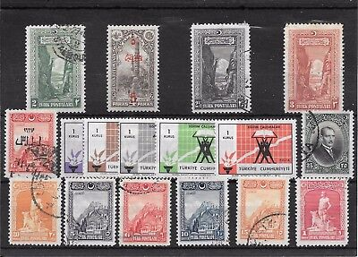 Turkey P463 Collection Of Mint And Cancelled Stamps See Both Images