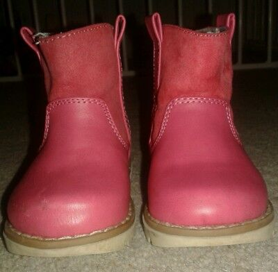 NEXT infant size 3 pink boots