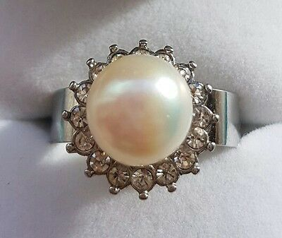 Freshwater Cultured Pearl Interchangable Ring Size Q