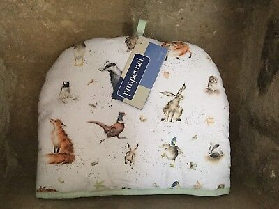 Wrendale Designs wildlife padded fabric tea cosy