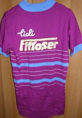 Maglia Shirt Maillot Ciclismo Cycling Cicli Moser Jersey Vintage Eroica