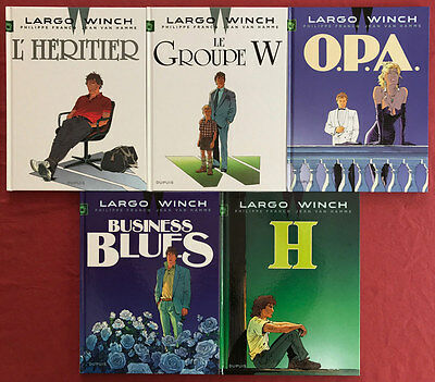 Lot de 5 BD Largo Winch 1, 2, 3, 4, 5