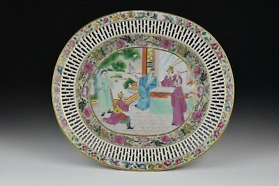 18th / 19th Century Chinese Export Famille Rose Reticulated Serving Platter