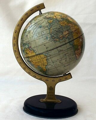 1950's VINTAGE TIN PLATE CHAD VALLEY GLOBE - 5""