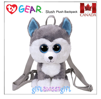 NEW RELEASE Official TY GEAR Beanie Boo's Plush Backpack SLUSH Husky Dog CANADA