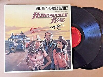 Willie Nelson & Dyan Cannon Autographed Honeysuckle Rose Soundtrack Record