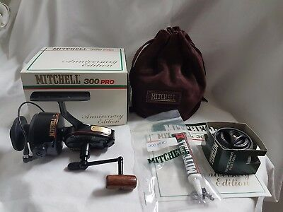 Mitchell 300 PRO Anniversary + BOX (NEW)  FRANCE REEL MOULINET MULINELLO VINTAGE