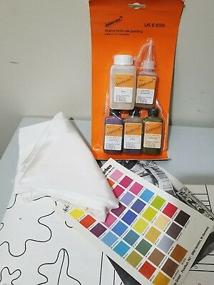 VINTAGE SILK SCREEN PAINT KIT Scarf Painting Kit - 1985 PATTERN & KIT INSTRUCTIO