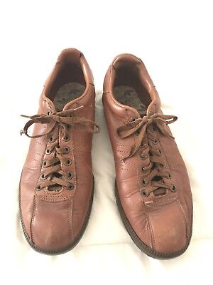 VTG Adidas Alamos Leather Sneakers Made In France 10.5