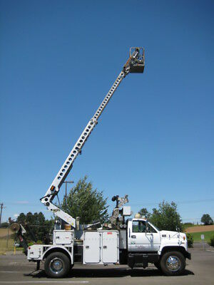 2002 Gmc 7500 Telsta T- 40 C Cable Placer Bucket Boom Truck Diesel Reel Lift A++