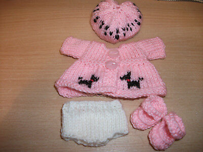 Hand Knitted Dolls Clothes for 5 inch Berenguer Doll or similar sized doll