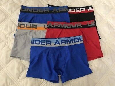 Under Armour Boys Original Boxerjock Briefs Lot of 5 Pack SZ-Youth X Small..#2