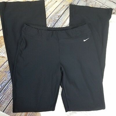 Nike Womens Pants Fit-Dry Black Stretchy Yoga Athletic Exercise Crossfit S 4-6