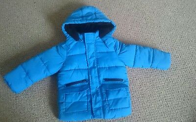 Boys blue padded Marks and Spencer coat 2-3