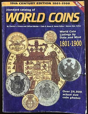 Standard Catalog of World Coins, 1801-1900 First Edition *jd