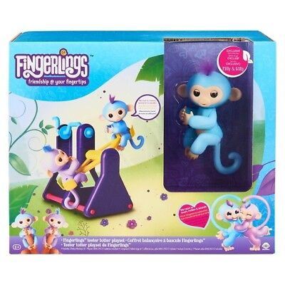 Fingerlings Teeter Totter Playset - Exclusive Baby Monkeys Milly & Willy VHTF