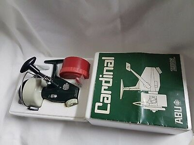 Abu Cardinal Zebco 7 + BOX (NEW)  Made in SWEDEN REEL MOULINET MULINELLO VINTAGE