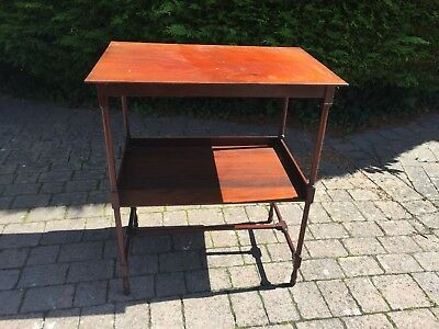 Antique Mahogany Side Table With Shelf