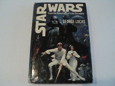 Star Wars George Lucas HC/DJ Del Rey BCE 1976 S27 Movie Tie-in Great Condtion!