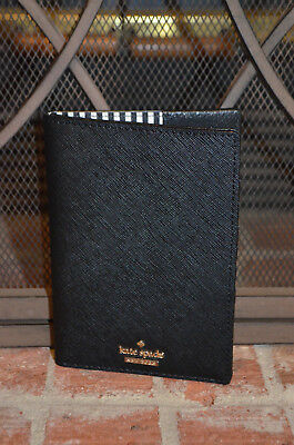 Authentic Kate Spade Cameron Street Black Travel Passport Holder Wallet NWT