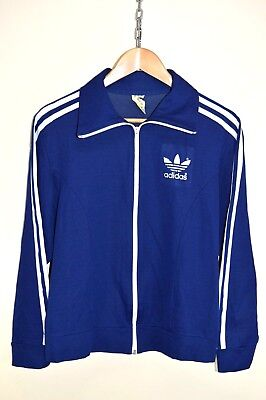 VINTAGE 70s ADIDAS EUROPA TRACKSUIT TOP TRACK JACKET RARE RETRO Size D5 SMALL