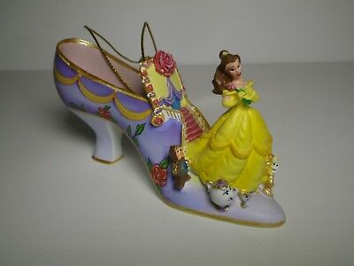 Disney Once Upon A Slipper Belle Shoe Ornament beauty and the beast Christmas