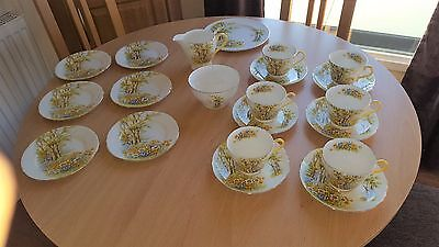 "Shelley ""daffodil Tea Service 21 Pieces Stunning -"