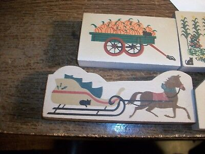 The Cats Meow Lot of 4 Misc.  Pieces, Truck, Wagon with Pumpkins, Cornfield