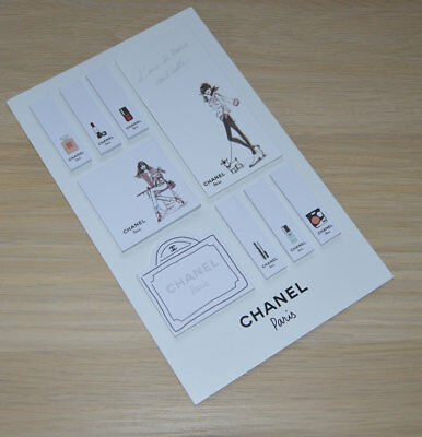 VIP gift from Chanel beauty boutique set of Chanel stickers RARE NEW