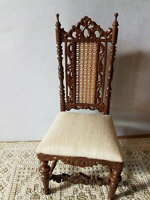 Dollhouse Miniature Bespaq Gorgeous Caned Back Side Chair Medieval