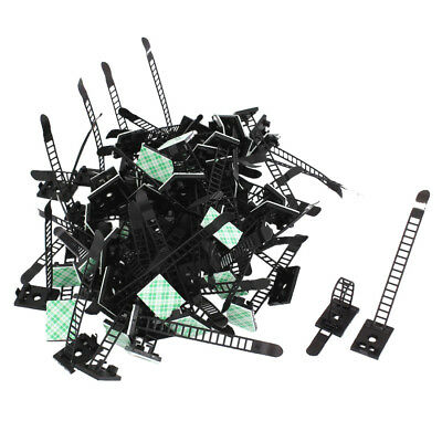 Plastic Stick on Adjustable Cable Wire Fixing Clip Holder 100Pcs WS XV X5R6