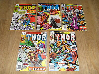 MARVEL COMICS ... The MIGHTY THOR ... Comic Lot 1970's ( #277 to 282 )