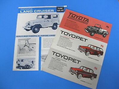 2 Vintage Original Toyota Land Cruiser Advertisements FJ40 & FJ25, 2-sided