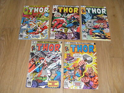 MARVEL COMICS ... The MIGHTY THOR ... Comic Lot 1970's / 1980's ( #286 to 291 )