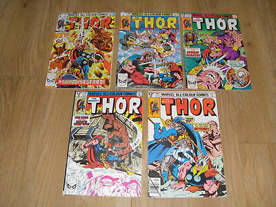 MARVEL COMICS ... The MIGHTY THOR ... Comic Lot 1980's ( #292 to 297 )