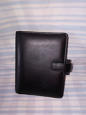 Filofax Black Leather Identity Pocket Organiser