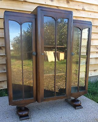 1930s glass display Cabinet - Mahogany- Good condition - Vintage