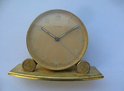 CYMA WATCH CO ALARM CLOCK, in WORKING CONDITION