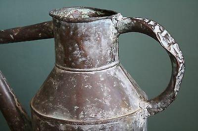 Vintage Antique Victorian French Oxidized Copper Watering Can - Superb Patina