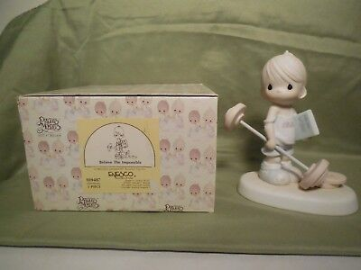 """Precious Moments Figurine  """" Believe The Impossible"""""""