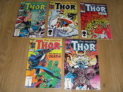 MARVEL COMICS ... The MIGHTY THOR ... Comic Lot early 1980's ( #342 to 346 )