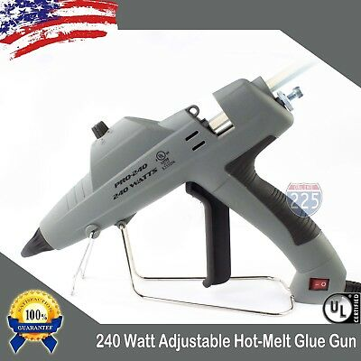 Full Size Glue Gun w Adjustable Temperature Control & Flow 240W + 20 Glue Stick